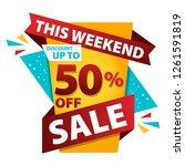 sale discount banner design.... | Shutterstock .eps vector #1261591819