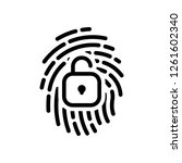 fingerprint with open lock ... | Shutterstock .eps vector #1261602340