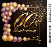 60 year anniversary celebration ... | Shutterstock .eps vector #1261612786