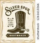 vintage western bootmaker label ... | Shutterstock . vector #1261613266