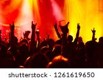 silhouettes of concert crowd at ... | Shutterstock . vector #1261619650
