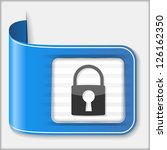 abstract icon of a lock  vector ...