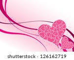 valentines day background with... | Shutterstock . vector #126162719