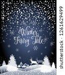 2019 hello winter holiday happy ... | Shutterstock .eps vector #1261629499