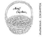 vintage christmas basket .... | Shutterstock .eps vector #1261649926