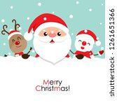 holiday christmas greeting card ... | Shutterstock .eps vector #1261651366
