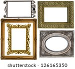 old gold frames on a white... | Shutterstock . vector #126165350
