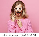 lifestyle and people concept ... | Shutterstock . vector #1261675543