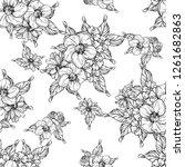 flower print. elegance seamless ... | Shutterstock .eps vector #1261682863