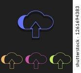 cloud upload icon in multi...