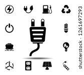 plug icon. simple glyph vector...