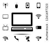 a laptop icon. simple glyph...