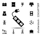 extension cord  icon. simple...