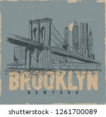 Brooklyn City.  Llustration...