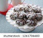 fresh baked chocolate crinkle... | Shutterstock . vector #1261706683