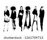 fashion girls sketch. fashion... | Shutterstock .eps vector #1261709713