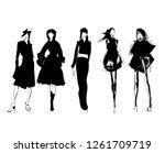 fashion girls sketch. fashion... | Shutterstock .eps vector #1261709719