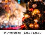 abstract bokeh x'mas background ... | Shutterstock . vector #1261712680