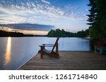 sunrise over a lake in muskoka  ... | Shutterstock . vector #1261714840