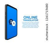 online translator concept... | Shutterstock .eps vector #1261715680
