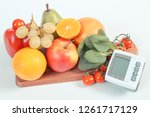 blood pressure monitor and... | Shutterstock . vector #1261717129