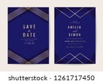 wedding invitations card with... | Shutterstock .eps vector #1261717450