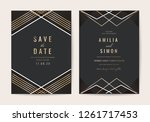 wedding invitations card with... | Shutterstock .eps vector #1261717453