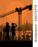 engineer and construction site... | Shutterstock .eps vector #126171974