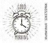 word good morning  hand drawn... | Shutterstock .eps vector #1261722466