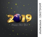 2019 happy new year turks and... | Shutterstock .eps vector #1261724149
