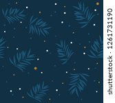 leaves texture pattern... | Shutterstock .eps vector #1261731190
