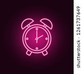 alarm clock icon. elements of...   Shutterstock .eps vector #1261737649