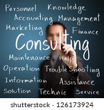 businessman writing consulting... | Shutterstock . vector #126173924