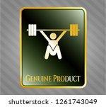 gold emblem with snatch ... | Shutterstock .eps vector #1261743049