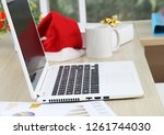 business and financial report... | Shutterstock . vector #1261744030