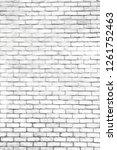white brick wall pattern gray... | Shutterstock . vector #1261752463