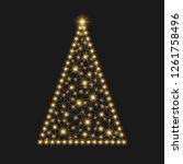 christmas tree. festive... | Shutterstock . vector #1261758496