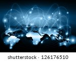 best internet concept of global ... | Shutterstock . vector #126176510