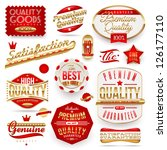 guaranteed and quality   ... | Shutterstock .eps vector #126177110