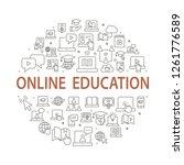 e learning distance education... | Shutterstock .eps vector #1261776589