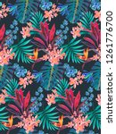 trendy seamless tropical... | Shutterstock .eps vector #1261776700