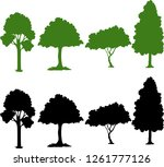 set of silhouette plant... | Shutterstock .eps vector #1261777126
