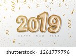 happy new year 2019 celebration.... | Shutterstock .eps vector #1261779796