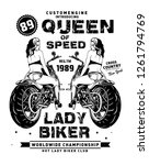 Motor Cycle Girl T Shirt Desig...