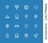 editable 16 gray icons for web...