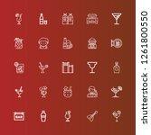 editable 25 vodka icons for web ... | Shutterstock .eps vector #1261800550