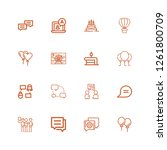 editable 16 balloon icons for...