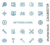 editable 22 settings icons for... | Shutterstock .eps vector #1261800739