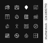 editable 16 cartography icons... | Shutterstock .eps vector #1261800793