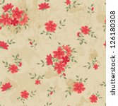 vintage seamless with roses | Shutterstock .eps vector #126180308